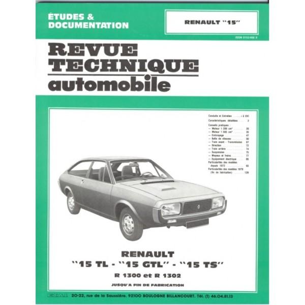 Revue Technique Renault 15 tl gtl et ts