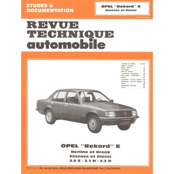 Revue Technique Opel rekord