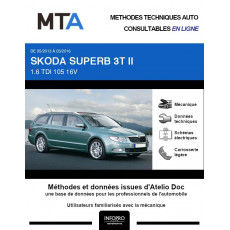 MTA Skoda Superb II BREAK 5 portes de 05/2013 à 03/2016