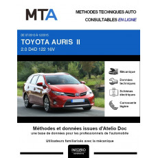 MTA Toyota Auris II BREAK 5 portes de 07/2013 à 12/2015