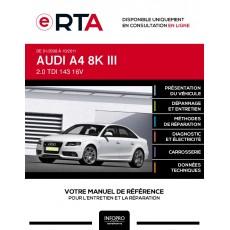 E-RTA Audi A4 III BERLINE 4 portes de 01/2008 à 10/2011