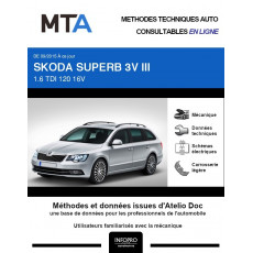 MTA Skoda Superb III BREAK 5 portes de 09/2015 à ce jour
