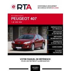 E-RTA Peugeot 407 BERLINE 4 portes de 07/2008 à 04/2011