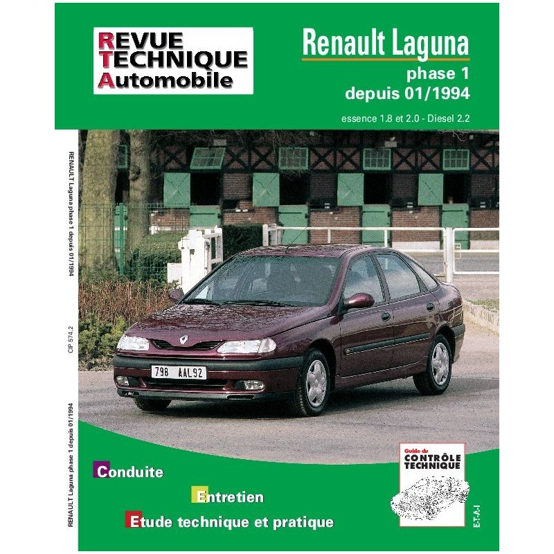 revue technique renault laguna rta site officiel etai. Black Bedroom Furniture Sets. Home Design Ideas