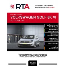 E-RTA Volkswagen Golf VI HAYON 3 portes de 10/2008 à 04/2013