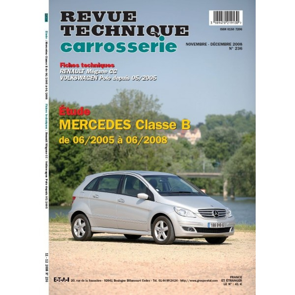 revue technique carrosserie mercedes classe b de 06 05 a