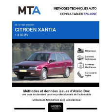MTA Citroen Xantia BREAK 5 portes de 12/1997 à 06/2001