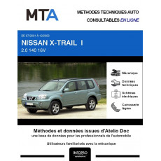 MTA Nissan X-trail I BREAK 5 portes de 07/2001 à 12/2003