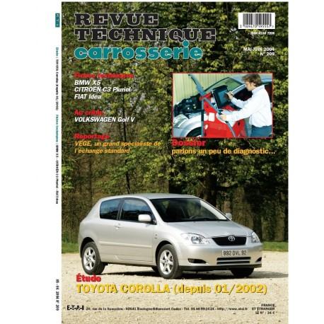 RTC TOYOTA COROLLA DEPUIS 01/2002