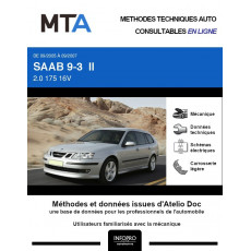 MTA Saab 9-3 II BREAK 5 portes de 09/2005 à 09/2007