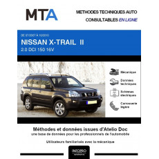 MTA Nissan X-trail II BREAK 5 portes de 07/2007 à 10/2010