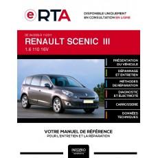 E-RTA Renault Scenic III MONOSPACE 5 portes de 04/2009 à 11/2011