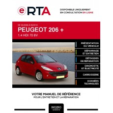 E-RTA Peugeot 206 + HAYON 3 portes de 03/2009 à 05/2013