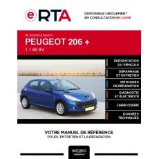 E-RTA Peugeot 206 + HAYON 5 portes de 03/2009 à 05/2013