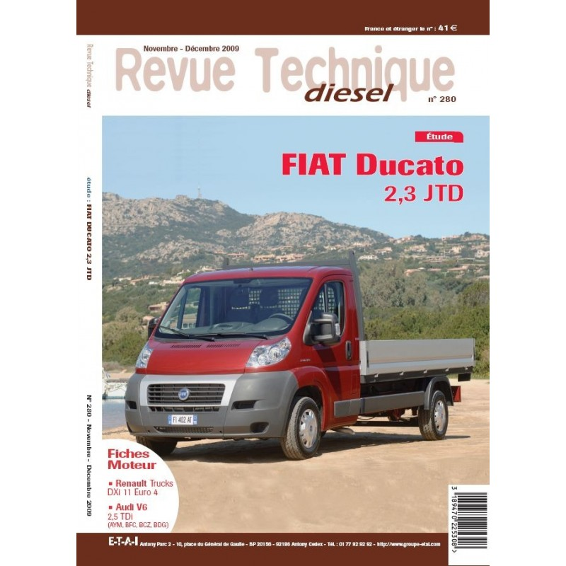 revue technique diesel etai fiat ducato 2 3 jtd v hicules industriels et utilitaires l gers. Black Bedroom Furniture Sets. Home Design Ideas