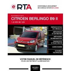 E-RTA Citroen Berlingo II FOURGON 5 portes de 05/2008 à 01/2012