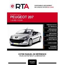 E-RTA Peugeot 207 CABRIOLET 2 portes de 03/2007 à ce jour