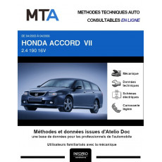 MTA Honda Accord VII BREAK 5 portes de 04/2003 à 04/2006