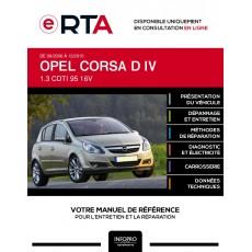 E-RTA Opel Corsa IV HAYON 5 portes de 09/2006 à 12/2010