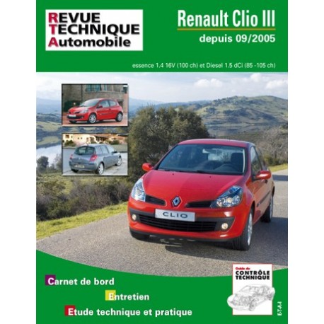 RTA B702.5 RENAULT CLIO III PHASE 1 (2005 à 2009)