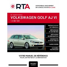 E-RTA Volkswagen Golf VI BREAK 5 portes de 10/2009 à 04/2013