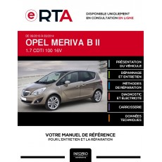 E-RTA Opel Meriva II MONOSPACE 5 portes de 09/2010 à 03/2014