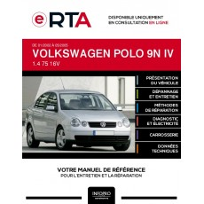 E-RTA Volkswagen Polo IV BERLINE 4 portes de 01/2002 à 05/2005