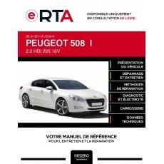 E-RTA Peugeot 508 I BERLINE 4 portes de 01/2011 à 12/2014