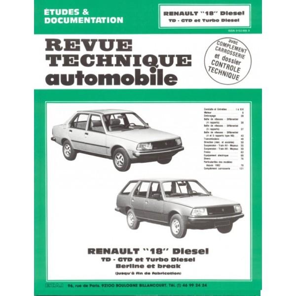 Revue Technique Renault 18