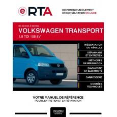 E-RTA Volkswagen Transporter V CHASSIS CABINE 2 portes de 06/2003 à 08/2009