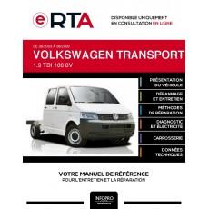 E-RTA Volkswagen Transporter V CHASSIS DOUBLE CABINE 4 portes de 06/2003 à 08/2009