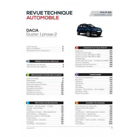RTA 831 DACIA DUSTER BREAK 5P I Phase 2 2013-09