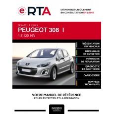 E-RTA Peugeot 308 I HAYON 5 portes de 04/2011 à 11/2013