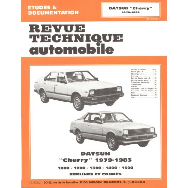 Revue Technique Datsun cherry