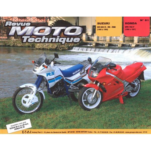 Revue Technique Rmt Suzuki dr650r rs rse et Honda vfr 750f