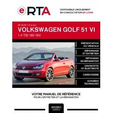 E-RTA Volkswagen Golf VI CABRIOLET 2 portes de 06/2011 à ce jour
