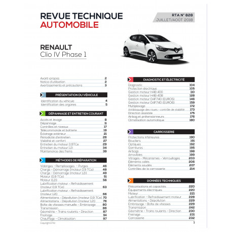 RTA 828 R CLIO HAYON/BREAK 5P PHASE 1 2012-10