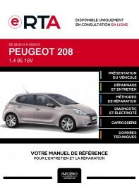 E-RTA Peugeot 208 HAYON 5 portes de 03/2012 à 09/2015