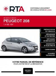 E-RTA Peugeot 208 HAYON 3 portes de 03/2012 à 09/2015