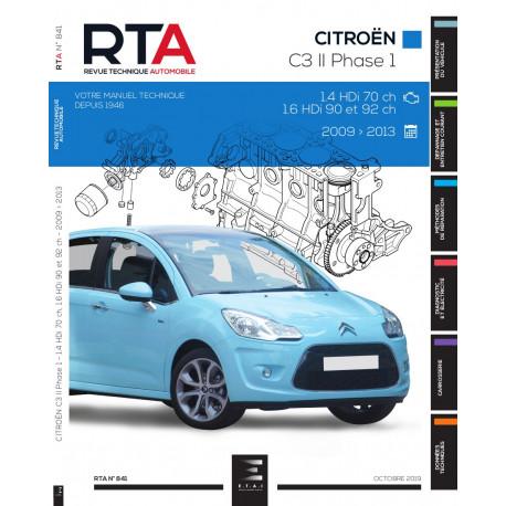 RTA 841 CITROEN C3 II Phase 1 (2009 à 2013)