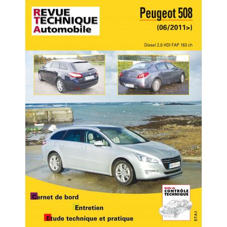 RTA PDF B780.5 PEUGEOT 508 PHASE 1 (2011 à 2014)