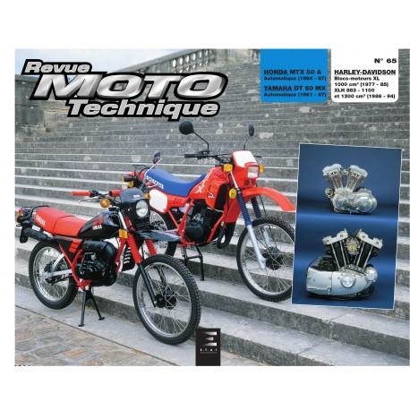 HONDA MTX 50 et YAMAHA DT 50 MX et HARLEY XL1000