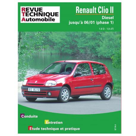RTA 624.2 RENAULT CLIO 2 D.PHASE 1 03/98 à 06/01