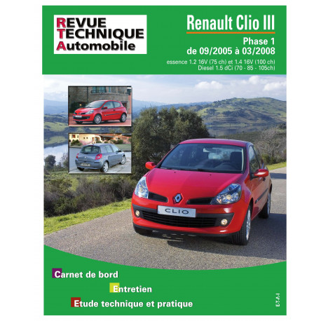 RTA B702.5 RENAULT CLIO III PHASE 1 (2005 à 2009)