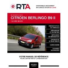 E-RTA Citroen Berlingo II FOURGON 4 portes de 05/2008 à 01/2012