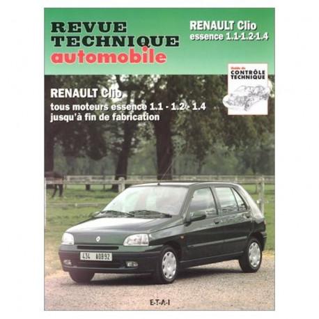 RTA 523.4 RENAULT CLIO I Phase 1 et 2 (1990 à 1998) - essence