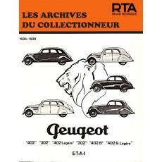 PEUGEOT 202, 302 et 402 (1936/1939) - Les Archives du Collectionneur n°9