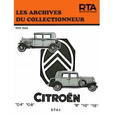 CITROEN C4-C6 ET ROSALIE (1929/1934)  - Les Archives du Collectionneur n°5