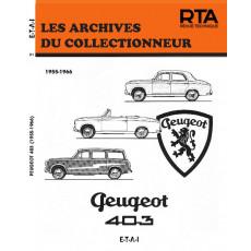 PEUGEOT 403 (1955/1966) - Les Archives du Collectionneur n°21