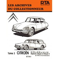 CITROËN ID/DSPÉCIAL-SUPER-SUPER5 TOME 3 - Les Archives du Collectionneur n°32